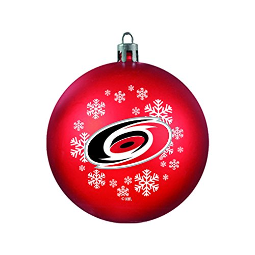 NHL Carolina Hurricanes Shatterproof Ball Ornament, 3.125″, Black