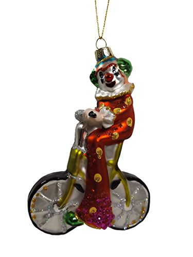 Bicycle Riding Clown One Hundred 80 Degrees Christmas Ornament