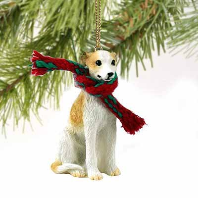 1 X Whippet Miniature Dog Ornament – Tan & White by Conversation Concepts