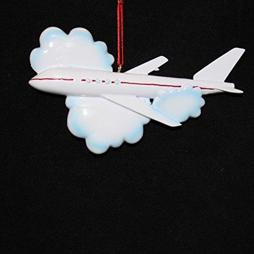 Flying Plane Christmas Ornament