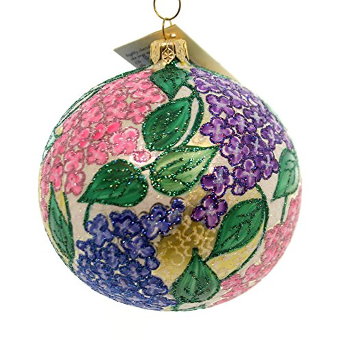 Christina's World PINK & LAVENDER LILAC GARDEN Ornament Flowers Ball Flo667