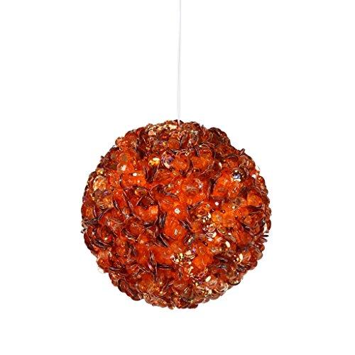 Vickerman 171349 – 3.5″ Orange Sequin Ball Christmas Tree Ornament (P797519)