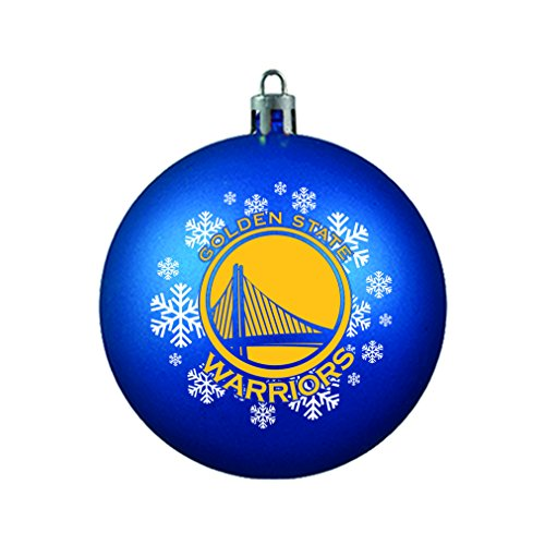 NBA Golden State Warriors Shatterproof Ball Ornament, 3.125″, Yellow
