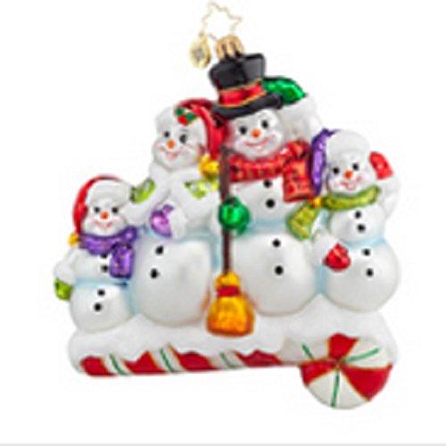 Christopher Radko Snow-one Like Family! Christmas Ornament