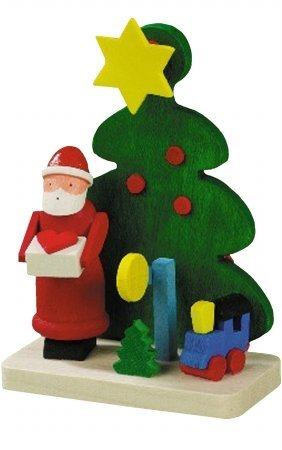 Alexander Taron Graupner Ornament Santa With Train/Tree 2.5H X 1.75W X 1D by Christian Ulbricht