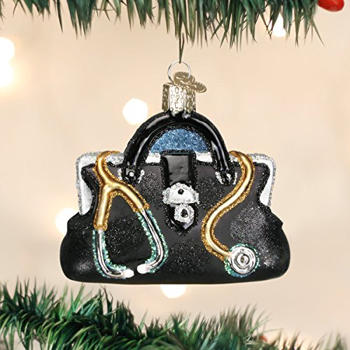 Old World Christmas Doctor's Bag Glass Blown Ornament