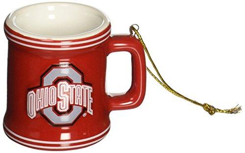 NCAA Ohio State Buckeyes Mini Mug Ornament, 2.25″, Red
