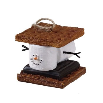 2″ S'mores Marshmallow Chocolate Sandwich Christmas Ornament