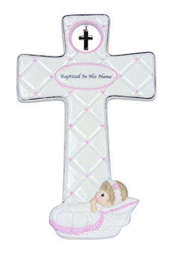 Precious Moments Baptism Girl Cross Figurine