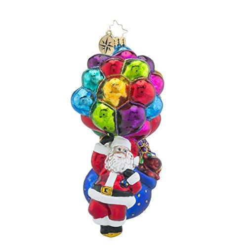 Christopher Radko Floating Contribution Santa Glass Christmas Ornament – 2016 Pediatric Charity Awareness Ornament – 6.5″h.