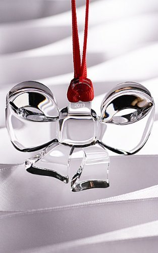Orrefors Ornament Collection 2013 Annual Crystal Christmas Bow Ornament by Orrefors [並行輸入品]