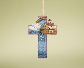 Jim Shore Noah's ARK Cross Hanging Ornament