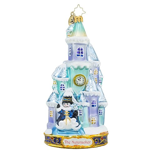 Christopher Radko the Land of Snow House Glass Christmas Ornament – Nutcracker Series – New for 2016 – 7″h.