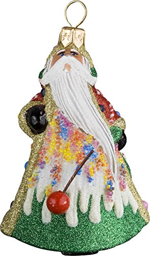 Glitterazzi Mini Candy Santa Ornament by Joy to the World
