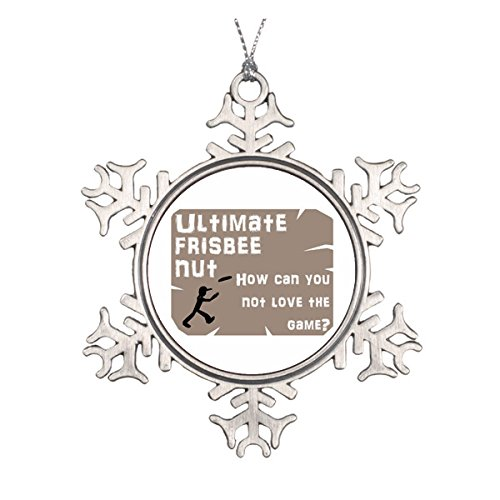 Ultimate Frisbee Nut Ceramic Round Christmas Ornament