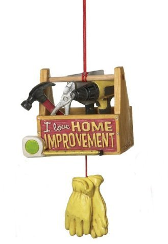 "4.75″ Tool Box ""I Love Home Improvement"" Handyman Christmas Ornament"