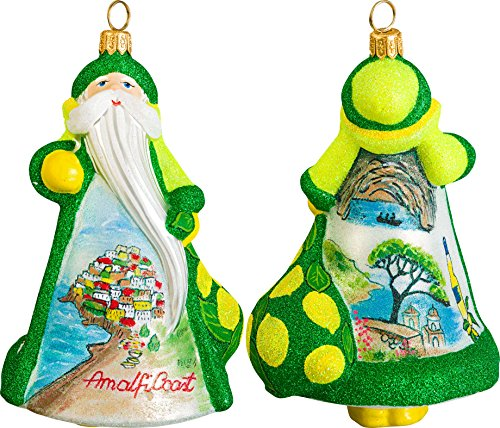 Glitterazzi International Amalfi Coast Santa Ornament by Joy to the World