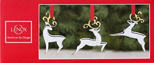 Lenox Set of 3 Reindeer Metal Ornaments