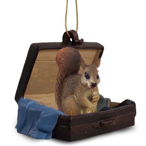 Squirrel Redtraveling Companion Ornament