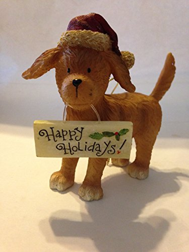 Raz Happy Holidays Dog Ornament