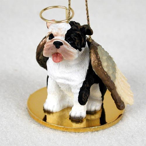 Bulldog Angel Dog Ornament – Brindle