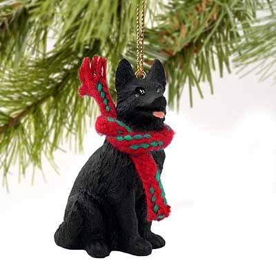 German Shepherd Miniature Dog Ornament – Black by Conversation Concepts