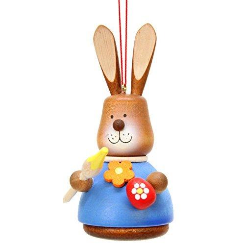 15-0416 – Christian Ulbricht Ornament – Bunny Artist Painted – 4H x 2W x 2.5D by Alexander Taron Importer
