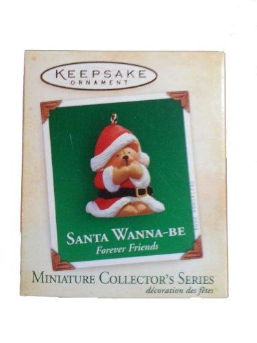 Keepsake Miniature Ornament (Santa Wanna-Be Forever Friends)
