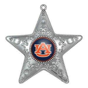 Auburn Tigers Silver Star Ornament