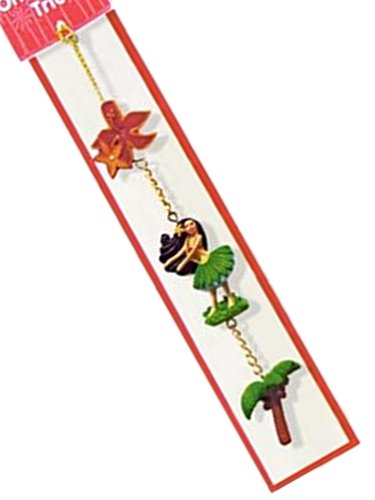 HAWAIIAN HULA HONEY TROPICAL TRIO ORNAMENT