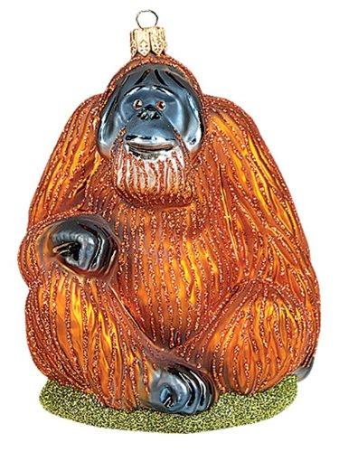 Orangutan Monkey Polish Mouth Blown Glass Christmas Ornament Tree Decoration