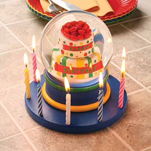 Musical Birthday Cake Water Globe
