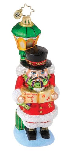"Christopher Radko Christmas Ornament ""Cracker Carols"" 7″ Nutcracker"
