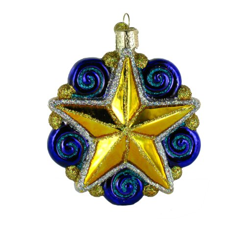 Old World Christmas Swirly Star Ornament