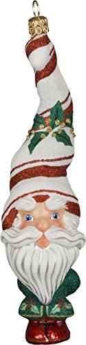 Glitterazzi Peppermint Twist Santa Ornament by Joy to the World
