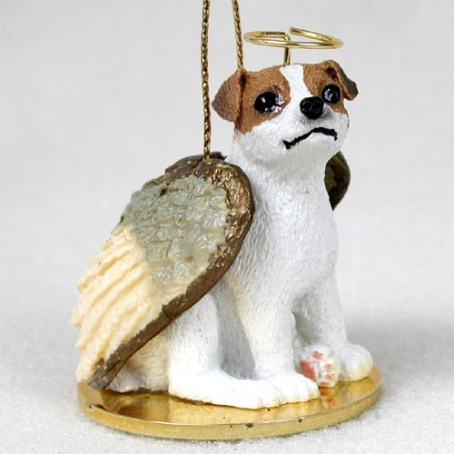 Jack Russell Terrier Angel Dog Ornament – Brown & White