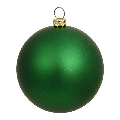 Vickerman Matte Green UV Resistant Commercial Drilled Shatterproof Christmas Ball Ornament, 2.75″