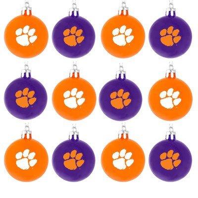 NCAA Ball Ornament (Set of 12) NCAA Team: Clemson