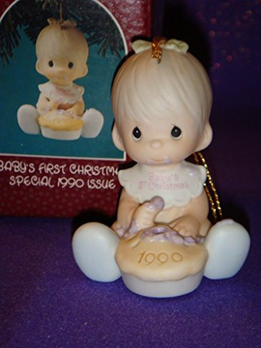 Precious Moments Ornament – Baby's First Christmas Special 1990 Issue #523798