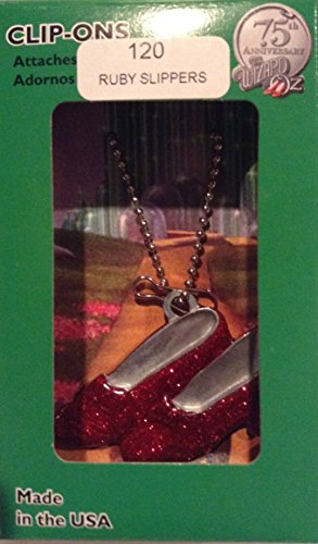 75th Anniversary the Wizard of Oz Ruby Slippers Clip-on Christmas Ornament (31137)