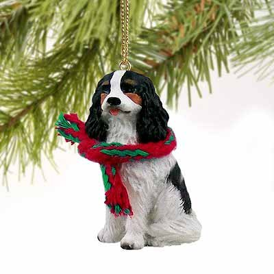 1 X Cavalier King Charles Spaniel Miniature Dog Ornament – Tri Color