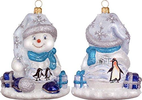 Glitterazzi Penguin Family Snowman Ornament by Joy to the World