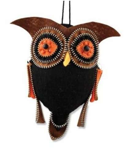 Bethany Lowe Hanging Zipper Owl Small