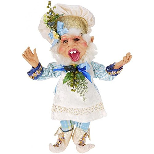 Mark Roberts Elves, Blueberry Muffin Elf, Medium 18 Inches Packaged with an Official Mark Robert Gift Bag