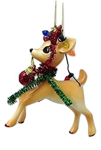 Department 56 Reindeer Tales Blitzen Ornament – 4″ x 3″