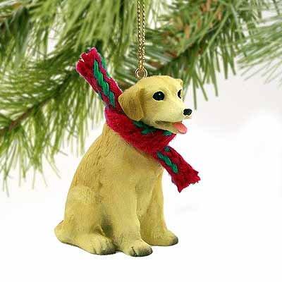 Labrador Retriever Miniature Dog Ornament – Yellow