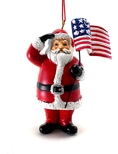 Patriotic Santa Ornament 3-1/2 IN. x 2-3/4 IN. x 1 IN.