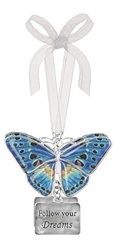 Ganz Home Decor Christmas / Spring Blissful Journey Butterfly Ornament (Follow your Dreams EA13548)