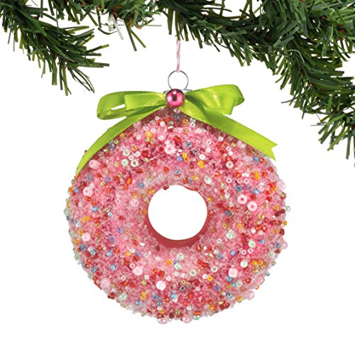 Department 56 Gallery Doughnut Ornament, Pink