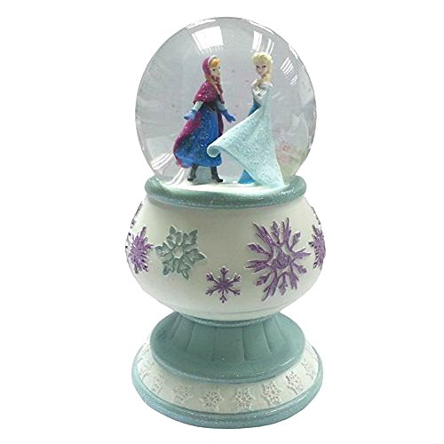 Disneys Frozen Anna and Elsa Pedestal Snowglobe